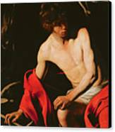 Saint John The Baptist Canvas Print by Michelangelo Caravaggio