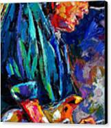 Stevie Ray Vaughan Canvas Print by Debra Hurd