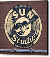 Sun Studio Memphis Tennessee Canvas Print by Wayne Higgs