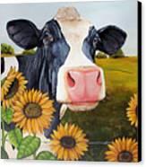 Sunflower Sally Canvas Print by Laura Carey