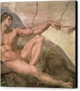 The Creation Of Adam Canvas Print by Michelangelo Buonarroti