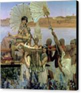The Finding Of Moses Canvas Print by Sir Lawrence Alma Tadema