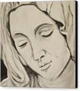 The Madonna Canvas Print by Jean Billsdon