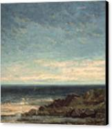 The Sea Canvas Print by Gustave Courbet