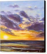 Tropical Sunset Canvas Print by Gina De Gorna