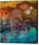Twilight In The Cosmos Canvas Print by Janet Hinshaw