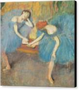 Two Dancers At Rest Canvas Print by Edgar Degas