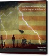 Usa Patriotic Operation Geronimo-e Kia Canvas Print by James BO  Insogna