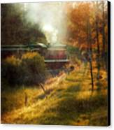 Vintage Diesel Locomotive Canvas Print by Jill Battaglia