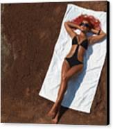 Woman Sunbathing Canvas Print by Oleksiy Maksymenko