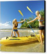 Women Kayakers Canvas Print by Kicka Witte - Printscapes