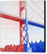 1000 Island International Bridge 2 Canvas Print by Steve Ohlsen