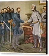 Lees Surrender 1865 Canvas Print by Granger