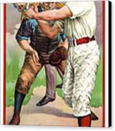 1895 In The Batters Box Canvas Print by Daniel Hagerman
