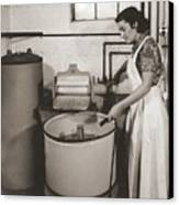 1930s State Of The Art Home Laundry Canvas Print by Everett