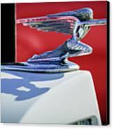1937 Packard 2-door Touring Hood Ornament Canvas Print by Jill Reger
