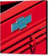 1938 Chevrolet Pickup Truck Emblem Canvas Print by Jill Reger