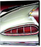 1959 Chevrolet Impala Tail Canvas Print by Peter Piatt