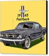 1965 Mustang Fastback Canvas Print by Jack Pumphrey