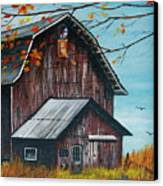 1980 Barn Canvas Print by Linda Simon