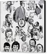 1984 Boston Celtics Championship Newspaper Poster Canvas Print by Dave Olsen
