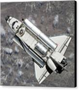 Aerial View Of Space Shuttle Discovery Canvas Print by Stocktrek Images