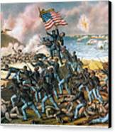 Battle Of Fort Wagner, 1863 Canvas Print by Granger