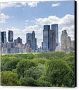 Central Park South Canvas Print by Ariane Moshayedi