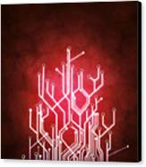 Circuit Board Canvas Print by Setsiri Silapasuwanchai