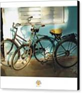 2 Cuban Bicycles Canvas Print by Bob Salo
