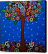 Day Of The Dead Canvas Print by Pristine Cartera Turkus