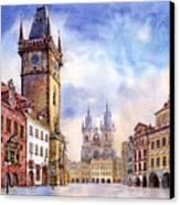 Prague Old Town Square Canvas Print by Yuriy  Shevchuk