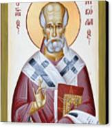 St Nicholas Of Myra Canvas Print by Julia Bridget Hayes