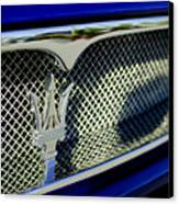 2002 Maserati Hood Ornament Canvas Print by Jill Reger