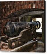 24 Pounder Cannon Canvas Print by Peter Chilelli