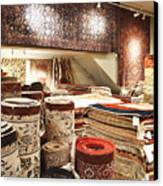 Area Rugs In A Store Canvas Print by Jetta Productions, Inc