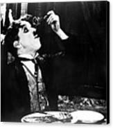 Chaplin: Gold Rush. 1925 Canvas Print by Granger