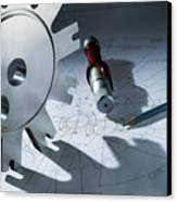 Engineering Equipment Canvas Print by Tek Image