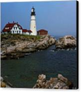 Lighthouse - Portland Head Maine Canvas Print by Frank Romeo