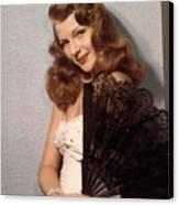 Rita Hayworth, Ca. 1940s Canvas Print by Everett
