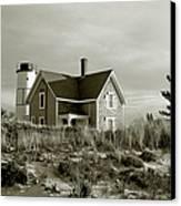 Sandy Neck Lighthouse Canvas Print by Charles Harden