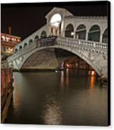 Venice By Night Canvas Print by Joana Kruse