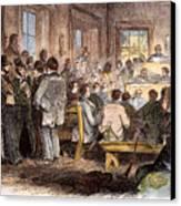 Kansas-nebraska Act, 1855 Canvas Print by Granger