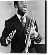 Louis Armstrong 1901-1971, African Canvas Print by Everett