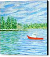 Maine Lobster Boat Canvas Print by Collette Hurst