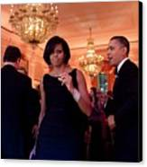 President And Michelle Obama Dance Canvas Print by Everett