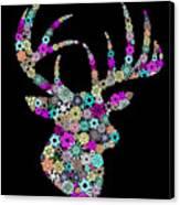 Reindeer Design By Snowflakes Canvas Print by Setsiri Silapasuwanchai