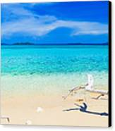 Tropical Beach Malcapuya Canvas Print by MotHaiBaPhoto Prints