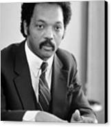 Jesse Jackson (1941- ) Canvas Print by Granger