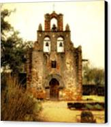 Mission Espada Canvas Print by Iris Greenwell